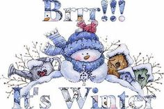 Brrr It's Winter! winter snow snowman graphic winter quote happy winter winter greeting