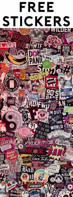 278 FREE Stickers Today [Many Verified Received By Mail] Want free stickers? Here is a huge list of companies that send you free stickers to stick on your laptop, tables and more. Browse free stickers here! Free Preppy Stickers, Cool Stickers, Free Stickers, Stuff For Free, Free Stuff By Mail, Free Blog, Free Website, Freebies By Mail, Emo Wallpaper