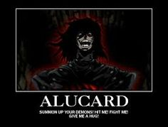"""Hellsing Ultimate Abridged quotes - """"Summon you your demons! Hit me! Fight me! Give me a hug!"""