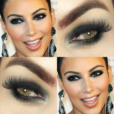Tutorial – olho preto petróleo inspirado em Kim Kardashian