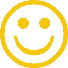 Yellow and white cute smiley face clip art