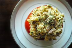 Tomatoes stuffed with Tuna Curry Salad- great recipe if you like tuna and curry :)