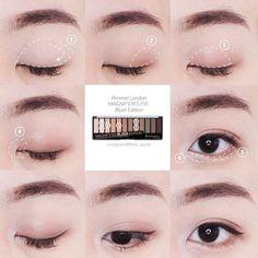#KoreanMakeupEyeliner #EyeMakeupBlue Korean Makeup Look, Asian Makeup, Makeup Trends, Makeup Tips, Hair Makeup, Natural Eyebrows, Natural Eye Makeup, Pop Art Makeup, Korean Makeup Tutorials