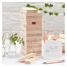 Ginger Ray Build A Memory Building Blocks Guest Book Beautiful Botanics : Target Wedding Games, Wedding Book, Wedding Favours, On Your Wedding Day, Wedding Signs, Fall Wedding, Diy Wedding, Rustic Wedding, Wedding Planning