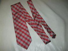 Awesome Savile Row 100% Silk Plaid Checkers Red White Black Men's Necktie Tie…
