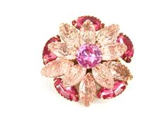 Great Mother's Day Gift,Lovely Pink Vintage Rhinestone Brooch. Statement Brooch.   1 1/2 inches