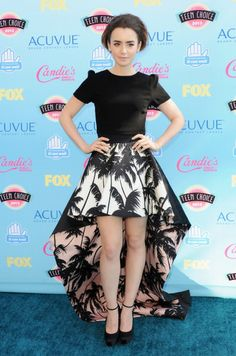 Actress Lily Collins arrives at the 2013 Teen Choice Awards at Gibson