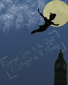 peter pan - quote - second star to the right . peter pan - quote - second star to the right . Peter Pan Cartoon, Peter Pan 3, Peter Pan Disney, Disney And Dreamworks, Disney Pixar, Disney Love, Disney Magic, Desenho Peter Pan, Pan Film