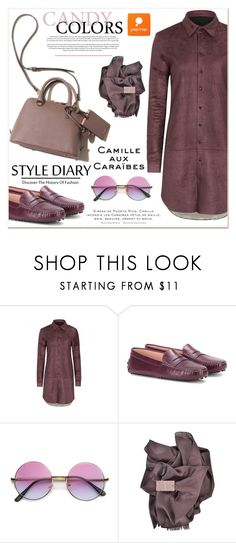 """Candy Look"" by janee-oss ❤ liked on Polyvore featuring Tod's, Theo and Gucci"