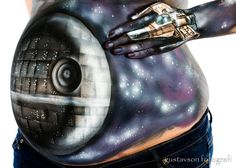 Death Star Body Painting ! Bump Wars !