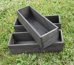 3 Herb Boxes - Reclaimed Wood - Seed Box