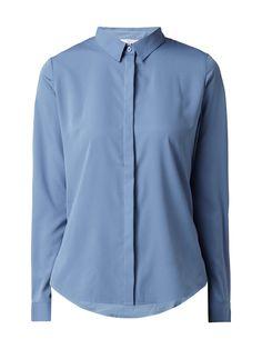 Bei ➧ P C Hemdblusen von JAKES ✓ Jetzt JAKES Bluse mit verdeckter  Knopfleiste in Blau   a728fcdf71