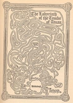 The labyrinth from 'The Tombs of Atuan' by Ursula K. Le Guin.