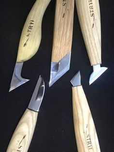 Wood carving set of 5 knives wood carving tools woodcarving tools spoon chisel hook knife spoon knives carving tools Woodworking Chisels, Woodworking Supplies, Fine Woodworking, Woodworking Videos, Youtube Woodworking, Woodworking Store, Woodworking Machinery, Woodworking Projects, Lathe Tools