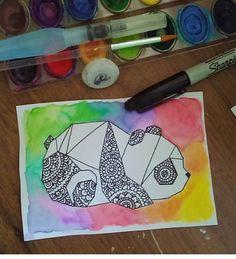 A beautiful creation Mandala Art Lesson, Mandala Drawing, Dibujos Zentangle Art, Sharpie Art, Doodle Art, Easy Drawings, Art Sketches, Cute Art, Creative Art
