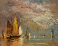https://flic.kr/p/yK7Mvw   Gilbert Munger (American, 1837-1903), Sailboats, n.d.   Oil on wood panel, Collection Tweed Museum of Art, UMD, Gift of Douglas M. Woodbridge, Dwight E. Woodbridge and Henry M. Woodbridge, D79.x7