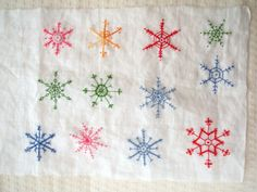 Embroidered snowflakes | Flickr - Photo Sharing!