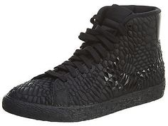 nike blazer leather men shoes all black the perfect design welcome