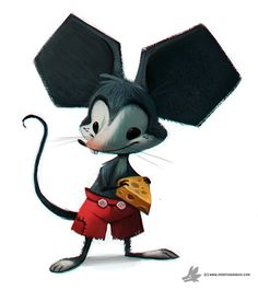 Daily Painting 759. Mickey Mouse by Cryptid-Creations on DeviantArt ★ Find more at http://www.pinterest.com/competing