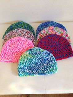 Double yarn thick hats by Crochetinsanity on Etsy