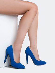 3402922ee6d You can t go wrong with a pair of classic pumps! - These. Blue PumpsBlue ShoesPumps  HeelsClassic ...