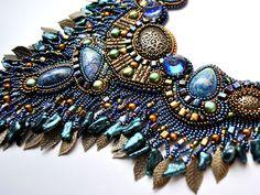 Beadwork by Marina Nasyrova. Atlantis Necklace. Detail