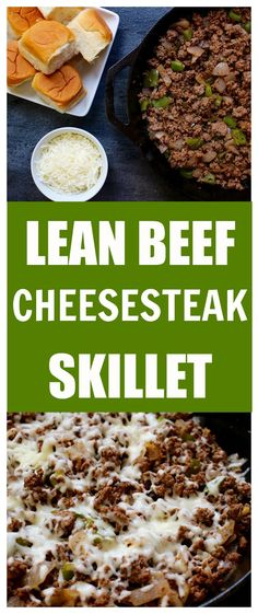A lightened-up version of the classic Philly cheesesteak sandwich. Made in under 20 minutes, Lean Beef Cheesesteak Skillet is a simple weeknight meal that's high in protein and low in cost. @MomNutrition
