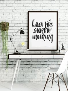 PRINTABLE ArtEasy Like Sunday MorningBedroom by TypoHouse on Etsy