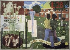 Kerry James Marshall, Better Homes, Better Gardens, Denver Art Museum Collection. Barnett Newman, African American Artist, American Artists, Museum Of Contemporary Art, Contemporary Paintings, Afro, Vancouver Art Gallery, Marshall, Black Figure