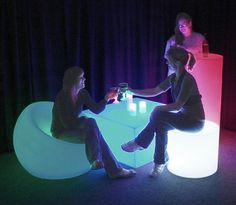 Modern LED Furniture - Chairs, for Nightclubs, Bars, Restaurants. Modular Sectional Sofas and Bar Furniture