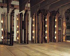 Lathe with lighting (copy) on wings in the Český Krumlov Castle Theatre, 1999, foto: Věroslav Škrabánek