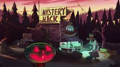 "Gravity Falls' ""Summerween"" Is An Excellent Spooky Adventure Halloween Film, Disney Halloween, Fall Halloween, Gravity Falls Town, Summer Party Themes, Fall Background, Reverse Falls, Autumn Scenery, Disney Shows"