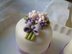 mini cake, could be for a bridal shower