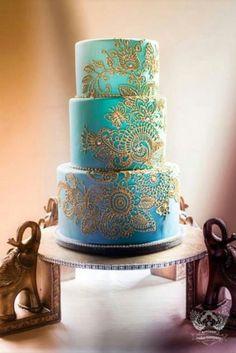 Henna ombre wedding cake