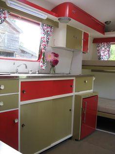 Retro caravan cabinets - After