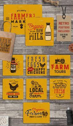Organic Farm & Eco Food Badges