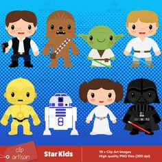 Shop for clipart on Etsy, the place to express your creativity through the buying and selling of handmade and vintage goods. Star Wars Room, Star Wars Kids, Art Images, School Ideas, Room Ideas, Artisan, Family Guy, Clip Art, Printables