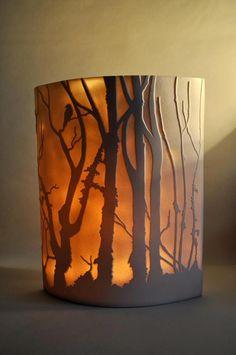 "Translucent ceramic ""light"" by Cornwall-UK artist, Amy Cooper Ceramics #PorcelainLampSocket"