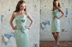 Retro ruche style bridesmaid dress