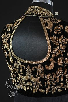Black velvet with gold work