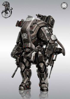 Helldiver trojan apu Picture  (2d, sci-fi, mech, robot)