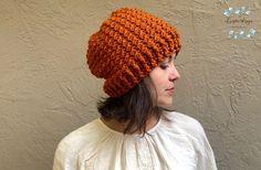 Autumn Crunch Hat a Free Crochet Pattern - ChristaCoDesign Knitted Hats, Crochet Hats, Crochet Pumpkin Hat, Elf Hat, Beanie Pattern, Yarn Needle, Crochet For Beginners, Half Double Crochet, Free Crochet