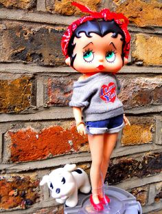Betty Boop and Pudge doll by alexmadalton, via Flickr