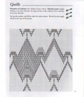 """Photo from album """"Salter F. - The Bargello book - on Yandex. Bargello Patterns, Bargello Needlepoint, Bargello Quilts, Needlepoint Stitches, Embroidery Stitches, Hand Embroidery, Needlework, Palacio Bargello, Swedish Weaving"""