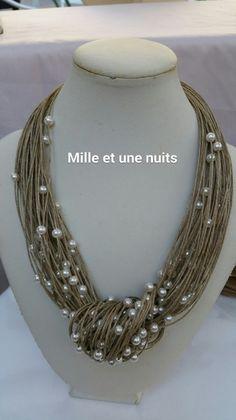 Gentil coquelicot mesdames... est le site idéal pour trouver bijoux en lin et perles nacrées (colliers, bracelets, boucles d'oreilles).