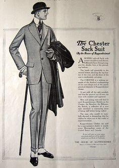 1914 House of Kuppenheimer Ad ~ Chester Sack Suit