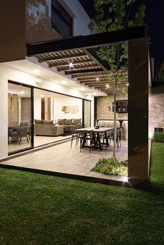 Dream Home Design, Modern House Design, Modern House Facades, Small House Design, Backyard Patio Designs, Pergola Patio, Small Patio Design, Terrace Design, Dream House Exterior