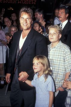 Don Johnson with his daughter Dakota Johnson, and stepson Alexander Bauer (Griffiths's son with Steven Bauer) on Aug. 6, 1996.  -Cosmopolitan.com