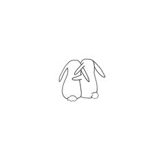 rabbit drawing simple b a s a k Bunny Tattoos, Rabbit Tattoos, Dog Tattoos, Mini Tattoos, Small Tattoos, Tatoos, Mini Drawings, Doodle Drawings, Art Drawings Sketches