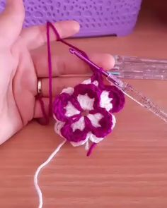 Wwwwow very super beautifulllll 😍😍😍💋💋💞💞 from crochet flowers ✨💫. 👉 DoubleTap & Tag a Friend below⤵ 💙 . 👕 Get your T-Shirt, Mug, Tote Bag, Case… Crochet Butterfly Free Pattern, Crochet Flower Tutorial, Crochet Flower Patterns, Easy Crochet, Crochet Flowers, Free Crochet, Knit Crochet, Knitted Flowers Free, Crochet Bookmark Pattern